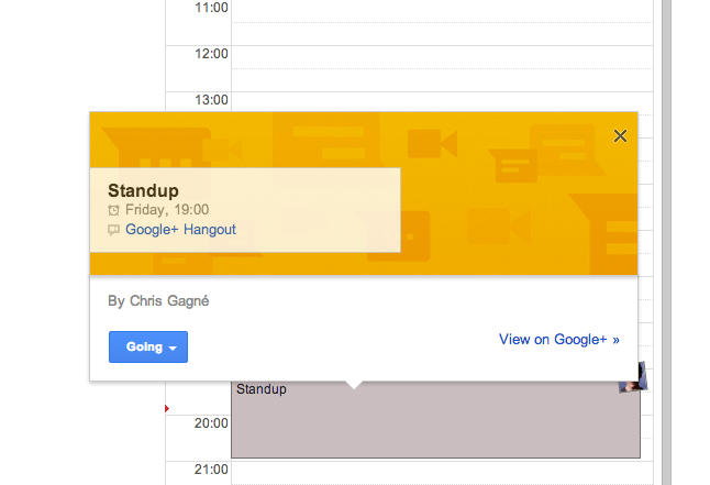 Calendar Invite in Google Calendar